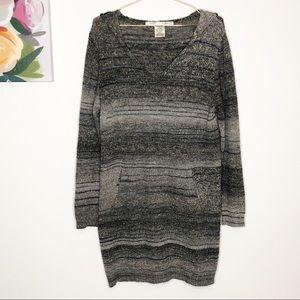 MAX STUDIO | Gray Sweater Dress L